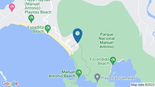 Hotel La Posada and Jungle Map