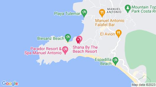 Shana by the Beach Manuel Antonio Map