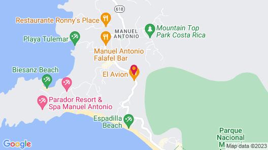 The Falls Resort at Manuel Antonio Map