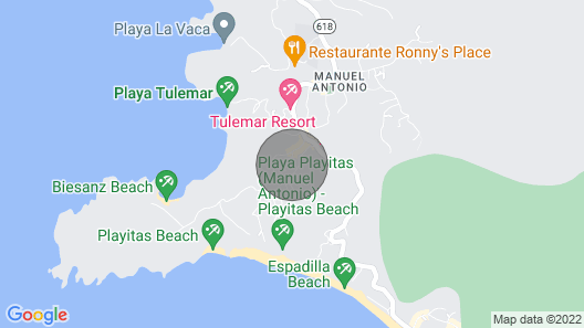 House near the beautiful beaches of Manuel Antonio and others tourist sites. Map