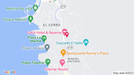 Gaia Hotel And Reserve - Adults Only Map