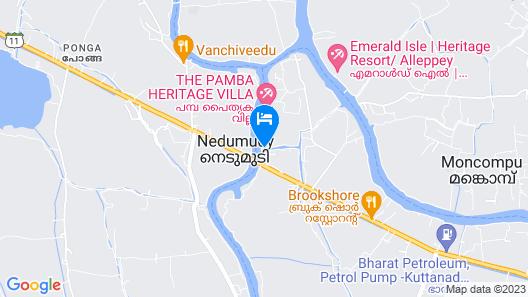 Water's Edge Villas Luxury Backwater Boutique Hotel Map