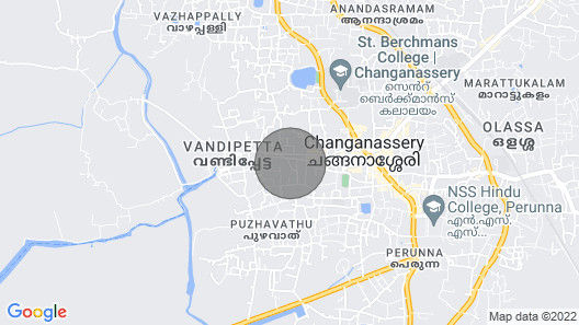 Heritage Bungalow in Changanassery Map