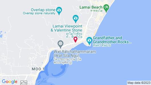 Lazy Days Samui Beach Resort Map