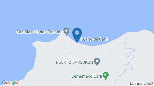 Cabins in Tuba Senika Island Map