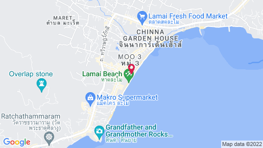 Rich Resort Beachside Hotel Map