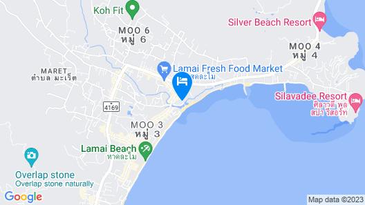 Zara Beach Resort Koh Samui Map