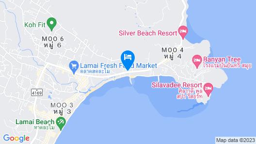 Outrigger Koh Samui Beach Resort Map