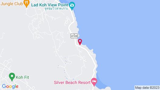Coral Cliff Beach Resort Samui Map