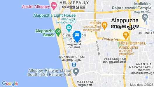 OYO 9417 Seaside Residency Map