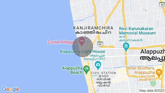 THE Beach Home, Serviced Villa,alleppey Beach Map