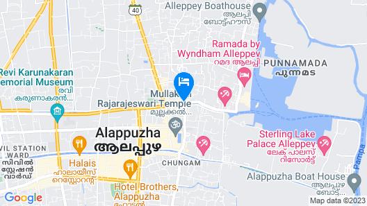 Hotel Aryas Residency Map