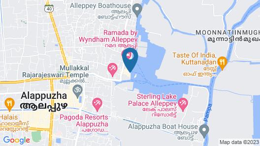 Lake India House Boats Map