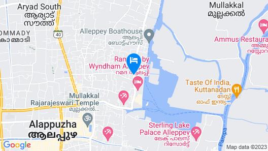 Sreekrishna Houseboats Map
