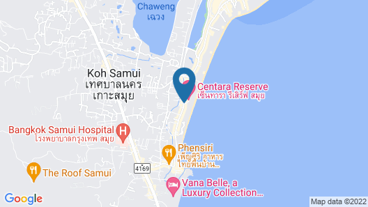 Centara Grand Beach Resort Samui Map