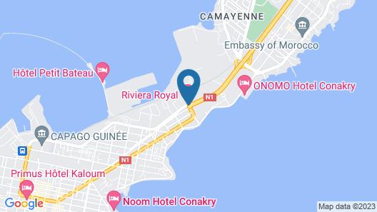 Riviera Royal Hotel Map