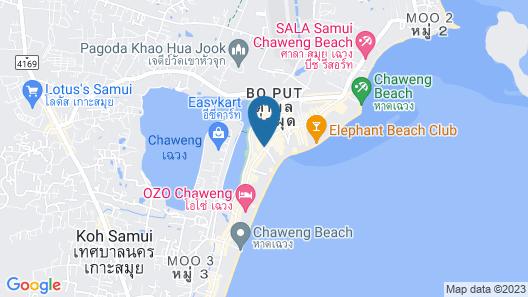 Malibu Koh Samui Resort & Beach Club Map