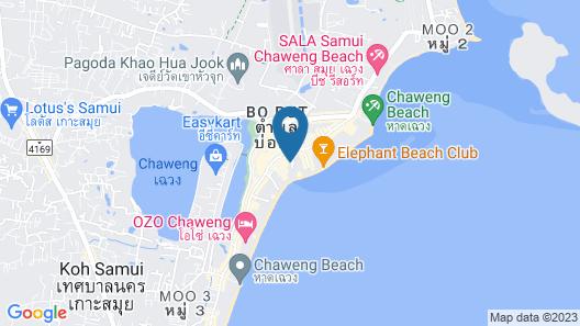 Baan Chaweng Beach Resort & Spa Map