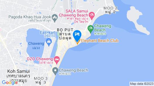Lub d Koh Samui Chaweng Beach Map