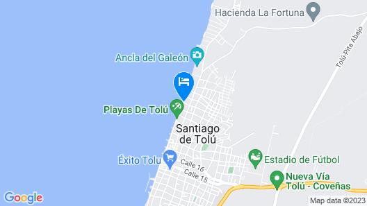 Hotel Pizzeria Opera Tolu Map