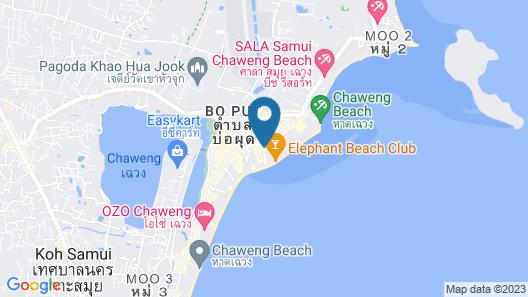 Coconut  Grove Hotel Samui Map