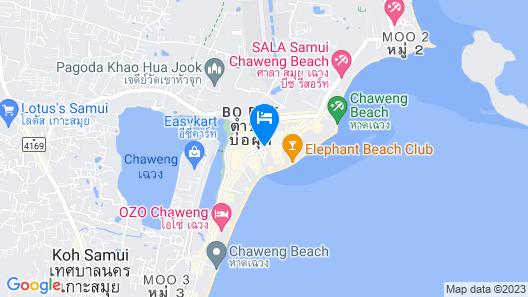 Chaweng Garden Beach Resort Map