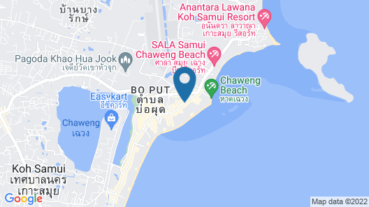 Chaweng Regent Beach Resort Map
