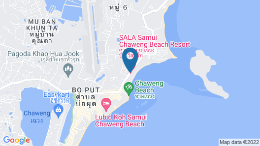SALA Samui Chaweng Beach Resort Map