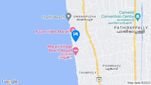 La Plage Marari Map