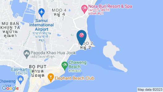 Chaba Cabana Beach Resort Map