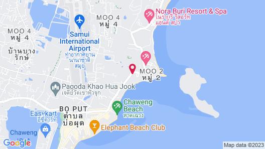 The Briza Beach Resort, Samui Map