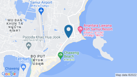 The Briza Beach Resort, Samui Map