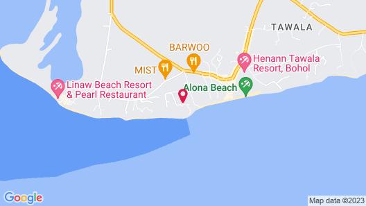 BE Grand Resort Bohol Map