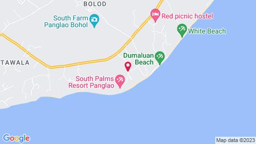 South Palms Resort Panglao Map