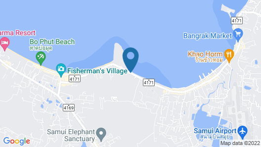 Replay Pool Villa Beachfront Samui Map