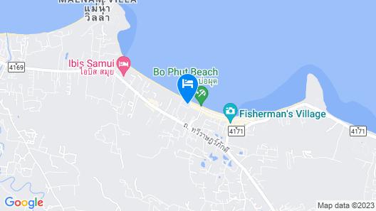 Hansar Samui Resort & Spa Map