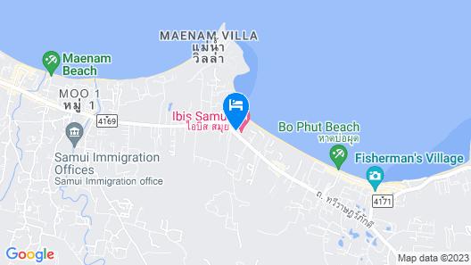 ibis Samui Bophut Map