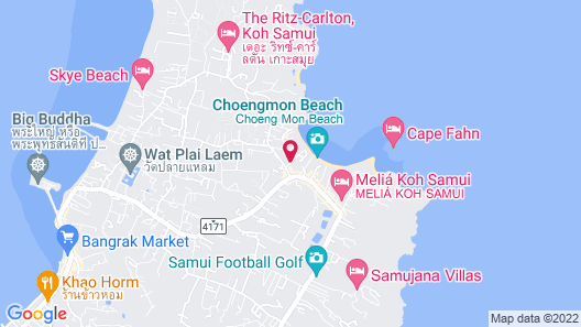 SALA Samui Choengmon Beach Map