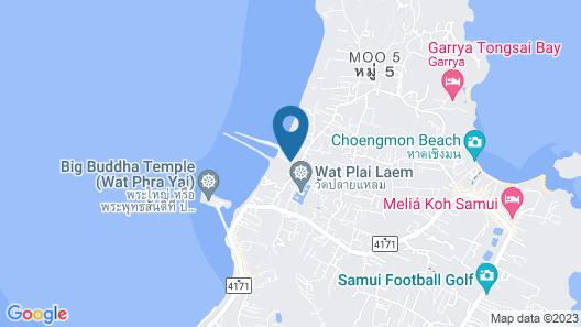 Deva Beach Resort Samui Map