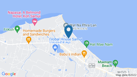 Samui Buri Beach Resort Map