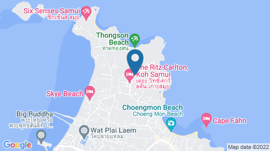 The Ritz-Carlton, Koh Samui Map