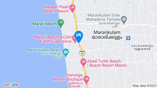 Marari Beach-Cgh Earth Map