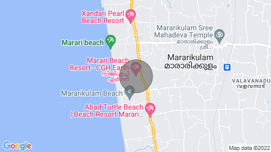 Marari Arabian sea view home stay Map