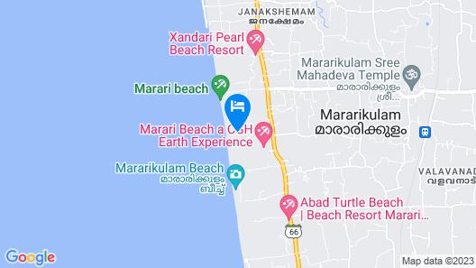 Marari Beach Villas Map