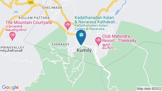 Periyar Meadows Leisure Hotels Map