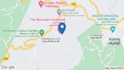 The Mountain Courtyard Thekady Map