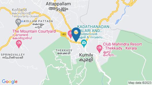 Woodside Residency Thekkady Map