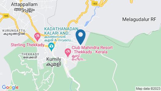 Periyar Nest Resorts Map