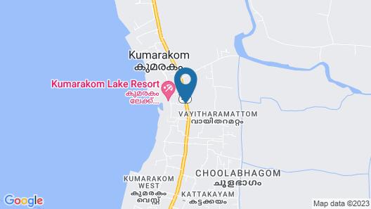 Kumarakom Lake Resort Map
