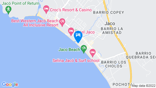 Balcon del Mar Beach Front Hotel Map